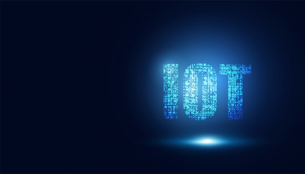 Abstrakte technologie internet der dinge digital computing