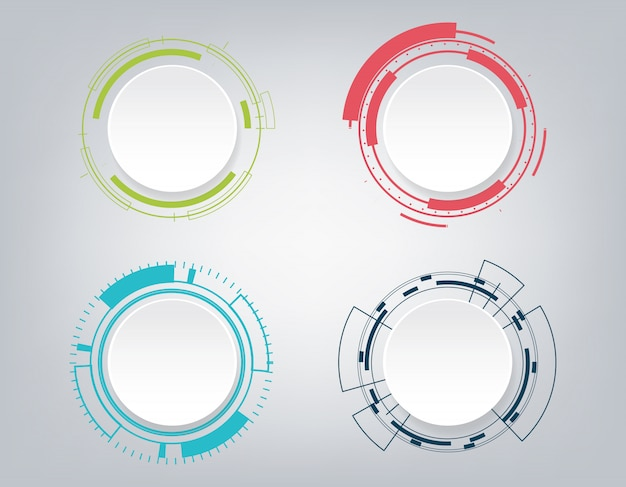 Abstrakte technologie kommunikationsdesign.