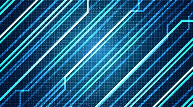 Abstrakte technologie linie hintergrund, hi-tech und internet-konzeptdesign