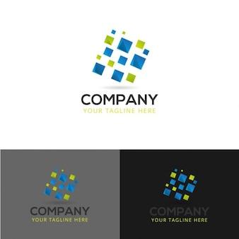 Abstrakte technologie-logo-design