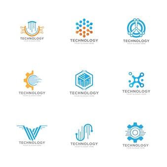 Abstrakte technologie logo vorlage vektor icon