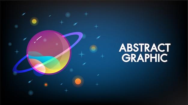 Abstrakte technologie mars planetendesignhintergrund-kommunikationskonzept