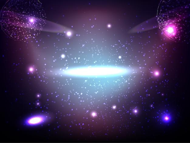 Abstrakte technologie raum-galaxie und das universum