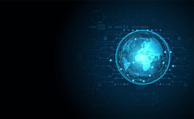 Abstrakte technologie ui futuristisches konzept welt digitalen hintergrund