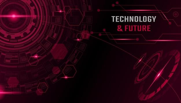 Abstrakte technologie und zukünftiger hintergrund