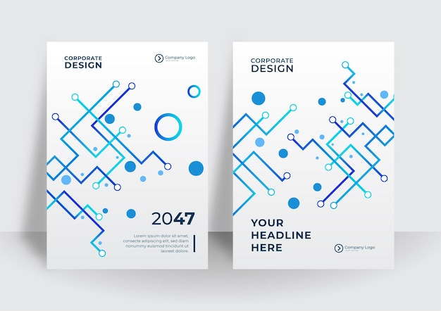 Abstrakte technologieabdeckung mit leiterplatte. designkonzept für high-tech-broschüren. satz futuristisches geschäftslayout. futuristische digitale postervorlagen