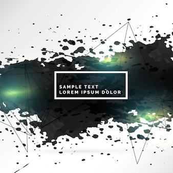 Abstrakte textur der schwarzen tinte splatter