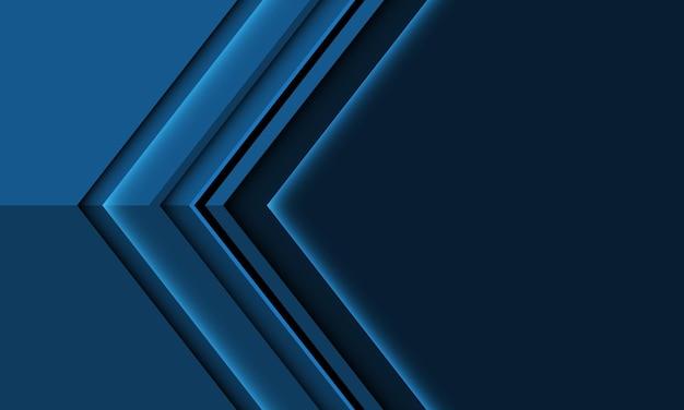 Abstrakte tiefblaue pfeilmetallrichtung mit moderner futuristischer hintergrundillustration des leerraumdesignstils.