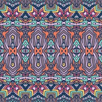 Abstrakte trendige farben textildesign. ethnisches nahtloses muster dekorativ.