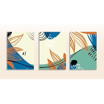 Abstrakte trendige wandkunst-set art design für cover print poster einladung bannerbroschüre