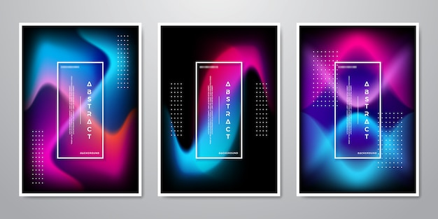 Abstrakte trendybackground-designkollektion.