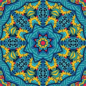 Abstrakte tribal festliche ethnische nahtlose muster ornamental