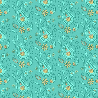 Abstrakte tropfen blaues paisley-bandana-muster
