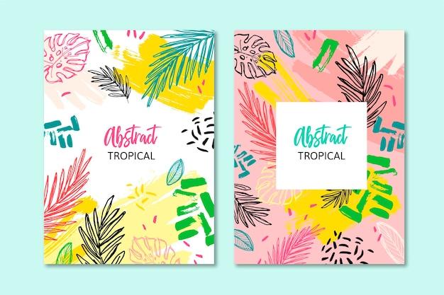 Abstrakte tropische karten