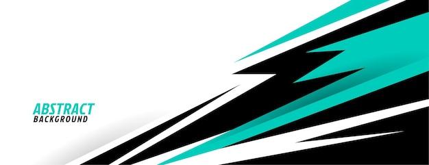 Abstrakte türkisfarbene geometrische formen sportdesign