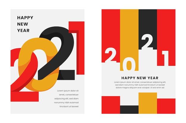 Abstrakte typografische neujahrs-2021-parteiflyerschablone