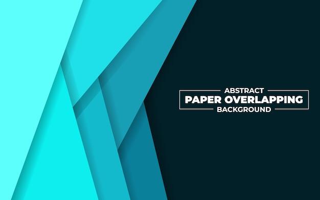 Abstrakte überlappende illustration des blauen papiers
