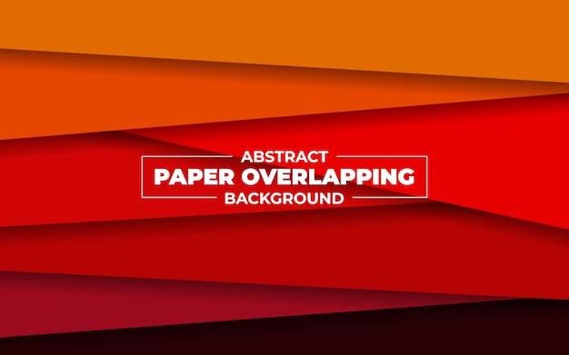 Abstrakte überlappende illustration des roten papiers
