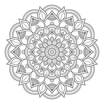 Abstrakte und dekorative konzept-mandala-illustration des umrissstils