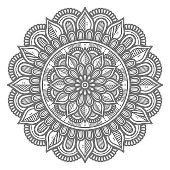 Abstrakte und dekorative konzept-mandala-illustration im kreisförmigen stil
