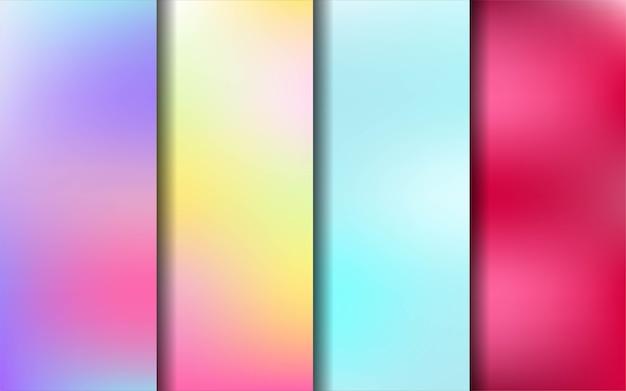 Abstrakte unscharfe farbsammlung