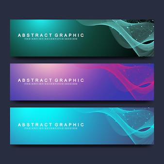 Abstrakte vektor-banner-vorlagen für website