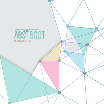 Abstrakte vektor-dreieck formt