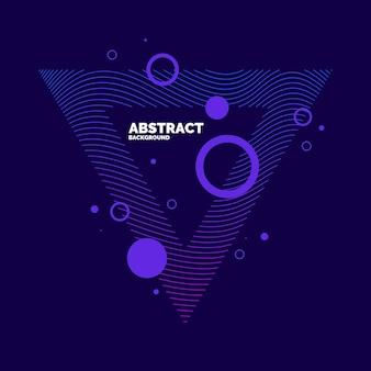 Abstrakte vektorelemente mit dynamischen wellen. illustration passend zum design