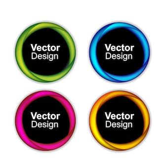 Abstrakte vektorfahnen eingestellt