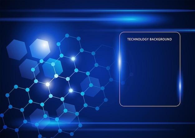 Abstrakte verbundene linien und punkte für die digitale internetverbindung der technologie und das blockchain-thema