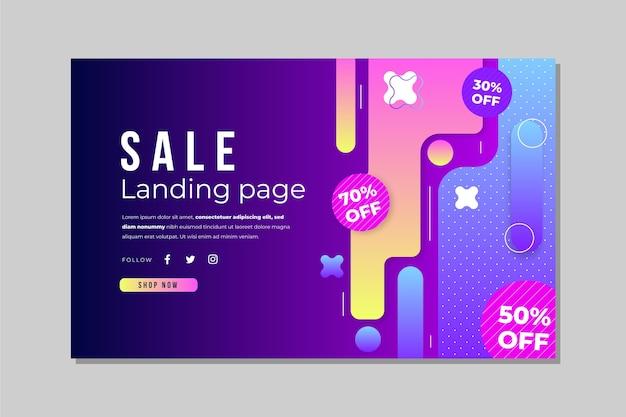 Abstrakte verkaufs-landingpage-vorlage