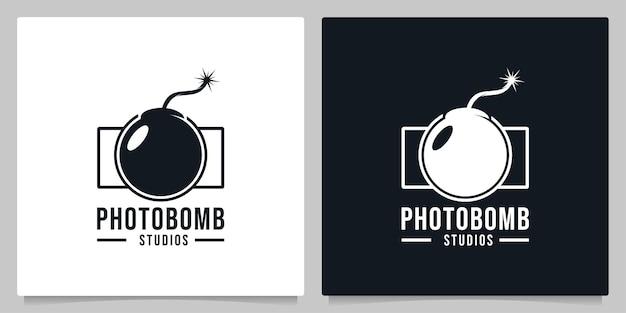 Abstrakte verschlusskamera bombe logo-design grafikkonzepte logo-design