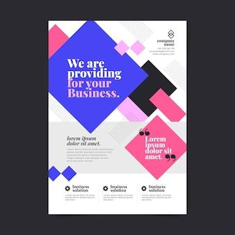 Abstrakte vertikale business-flyer-vorlage mit farbverlauf