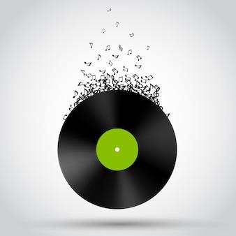 Abstrakte vinylscheibe.