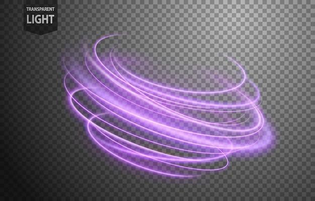 Abstrakte violette gewellte lichtlinie