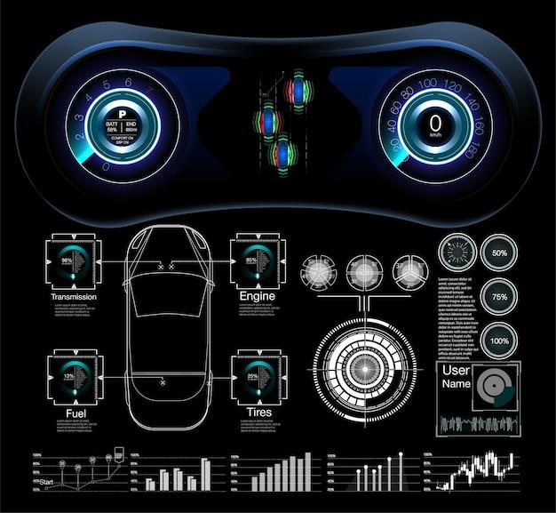 Abstrakte virtuelle grafische berührungsbenutzeroberfläche