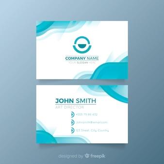 Abstrakte visitenkarte für firma