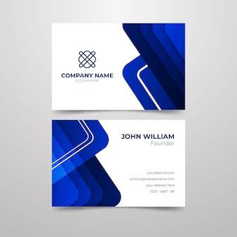 Abstrakte visitenkarte für firmengründer