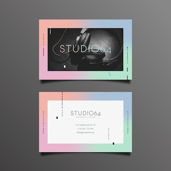 Abstrakte visitenkarte mit fotokonzept
