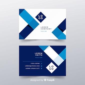 Abstrakte Visitenkarte mit geometrischem Design