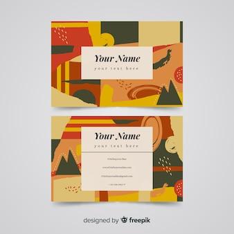 Abstrakte visitenkarte vorlage