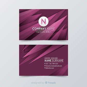 Abstrakte visitenkartenvorlage mit farbverlauf
