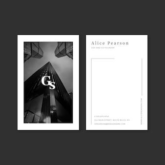 Abstrakte visitenkarteschablone mit foto