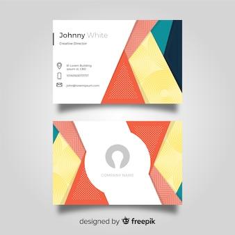 Abstrakte Visitenkarteschablone mit geometrischen Formen