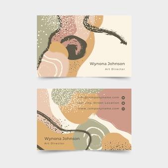 Abstrakte visitenkarteschablone mit pastellfarbenen flecken
