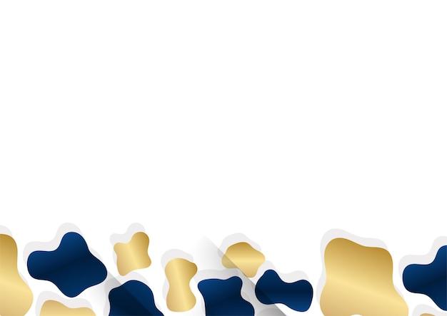 Abstrakte vorlage dunkelblauer luxus-premium-hintergrund mit goldenen geometrischen formenelementen. anzug für präsentationshintergrund, zertifikat, visitenkarte, banner, flyer und vieles mehr