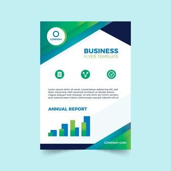 Abstrakte vorlage für business-flyer mit diagrammen