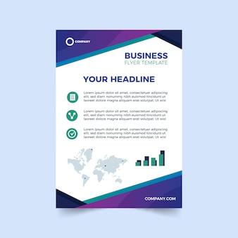 Abstrakte vorlage für business-flyer mit weltkarte