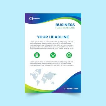 Abstrakte vorlage für business-flyer