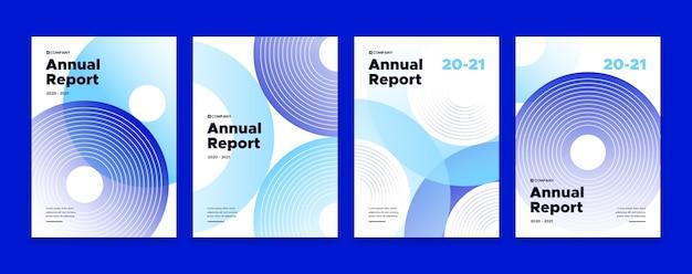 Abstrakte vorlage für den jahresbericht